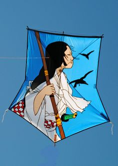 https://flic.kr/p/SvfWHh | Suruga 'Samurai vrouw ' | Japanese Art Kites RuudKugel