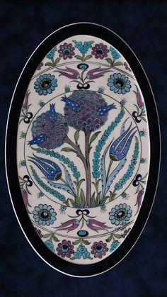 Turkish Tiles, Turkish Art, Islamic Tiles, Islamic Art, Ceramic Tile Art, Motif Design, Panel Art, Indian Art, Pattern Art