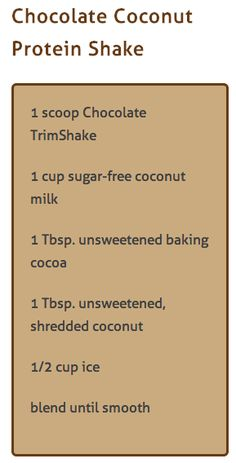 Chocolate Coconut Protein Shake using doTERRA Trim Shake Powder Cooking With Essential Oils, Doterra Essential Oils, Juice Smoothie, Smoothie Drinks, Doterra Slim And Sassy, Protein Shake Recipes, Protein Shakes, Coconut Protein, Doterra Recipes