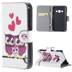 Fashion Three Owls Pattern PU Leather Wallet Stand With Flip Case Cover for Samsung Galaxy Xcover 3 G388F Mobile Phone Cases box