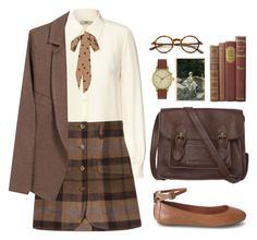 """""""Old Time Memories"""" by sweetpastelady ❤ liked on Polyvore featuring Orla Kiely, Opening Ceremony, American Vintage, Yumi, Fat Face, Luxury Rebel, Void, Tom Ford, vintage and school"""