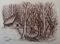 The Fairy Woods Ink Sketch by TheJumbleBearyPatch on Etsy. $15.00, via Etsy.