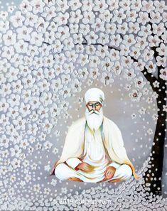 Guru Nanak Pics, Guru Nanak Photo, Guru Pics, Sikhism Beliefs, Sikhism Religion, Religious Photos, Religious Art, Guru Nanak Wallpaper, Spiritual Wallpaper