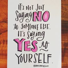03/28 of the #BetterLetteringCourse February InstaChallenge! / One of the biggest challenges I face in my business is wanting to say YES all the time.