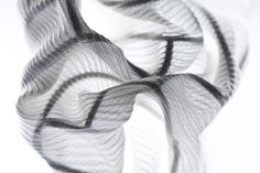 """Programmable Textile – Modelling fabrics into three-dimensional structures After the experiments in physical programming in the """"Traces"""" project we reported on last year, Dana Zelig decided to. University Of Westminster, Three Dimensional, Textile Design, Experiment, Weaving, Textiles, Knitting, Model, Inspiration"""