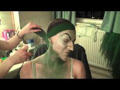 Part 1 Wicked Witch airbrush application of makeup