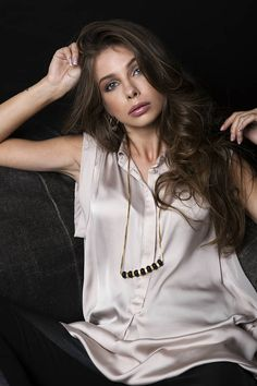 #Long #minimalist #beaded #necklace #black #beads #necklace #modern