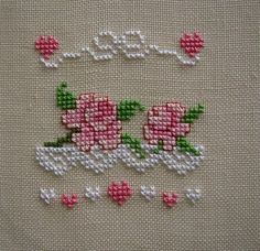 cross stitch roses 1 of 2