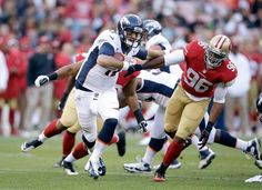 Brock Osweiler #17 of the Denver Broncos scrambles away from Corey Lemonier #96 of the San Francisco 49ers during their preseason NFL game at Candlestick Park on August 8, 2013 in San Francisco, California. (Photo by Ezra Shaw/Getty Images)