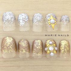 #マリーネイルズ #marienails #ネイルデザイン #かわいい #ネイル #kawaii #kyoto #ジェルネイル#trend #nail #toocute #pretty #nails #ファッション #naildesign #ネイルサロン #beautiful #nailart #tokyo #fashion #ootd #nailist #ネイリスト #ショートネイル #gelnails #東京 #大人ネイル #instanails #gold #silver @mery_naildesign