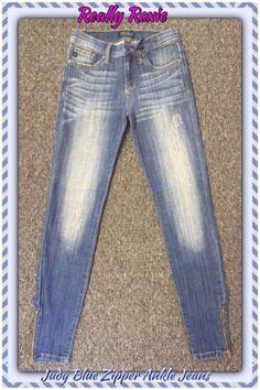 Judy Blue Ankle Zipper Jeans