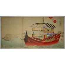 豊原周延: Tour by boat- Okawa-river — 大川筋 御成 - Japanese Art Open Database