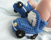 SAVE 10% - Blue Cars Baby Booties