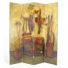 "The Cowboy Screen Room Divider (Multi) (72""H x 64""W x 1""D)"