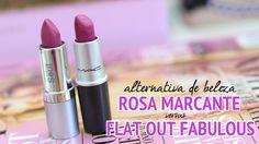 resenha e comparação batom rosa marcante eudora e flat out fabulous da MAC borboletas na carteira