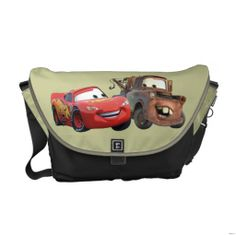 Shop Lightning McQueen and Mater Messenger Bag created by DisneyPixarCars. Disney Cars Movie, Lightning Mcqueen, Jean Crafts, Movie T Shirts, Beautiful Bags, Bag Making, Bag Accessories, Purses And Bags, Messenger Bag