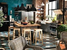 Thinking of new style in kitchen? What do you think of Monica Rachel Phoebe style? Kitchen is the best place to put some 90's sitcom color in your life.