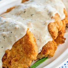 Chicken Fried Chicken with Peppered Milk Gravy