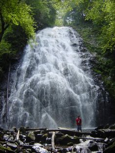 Crabtree Falls NC- walking distance from our cabin.
