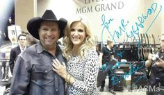 Garth Brooks and Trisha Yearwood backstage at the American Country Music Awards.