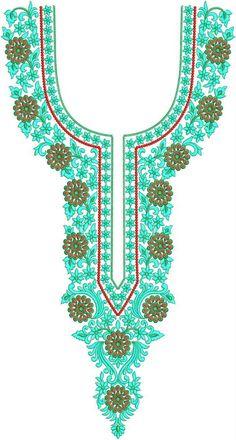 Latest Neck Designs for Kurtis / Dress / Suit / Men's Neck Download Embroidery Design File in .EMB Format. Embroidery On Kurtis, Kurti Embroidery Design, Embroidery Designs Online, Machine Embroidery Designs, Embroidery Patterns, Salwar Neck Designs, Folder Design, Suit Men, Lahenga