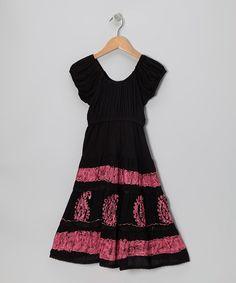 Designer Kids dresses black-pink