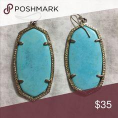 Authentic Kendra Scott Turquoise Danielle Kendra Scott Earnings Kendra Scott Jewelry Earrings