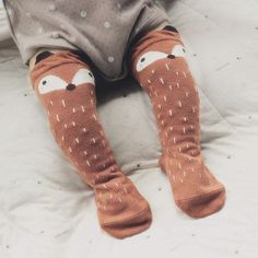 Kids Fox Socks Leg Warmers Kids Knee High fox socks Cartoon Brand Designer socks Baby Girl Children Kawaii Sock fox unisex