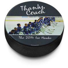 Personalized Hockey Puck | ChalkTalkSPORTS.com