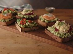 Avocado Toast Three Ways Recipe : Bobby Flay : Food Network