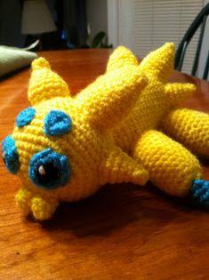 Heart in Flight Crochet: Joltik Crochet Pattern Pokemon Crochet Pattern, Crochet Patterns, Hat Patterns, Pokemon Craft, Diy Crochet, Mistakes, Crochet Projects, Free Pattern, Dinosaur Stuffed Animal