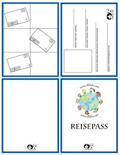 German passport template - great classroom activity!  Why not arrange a 'flight to Germany' in your German lesson...