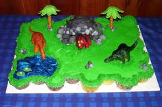 We made this cupcake cake for my son's 4th B-day,...