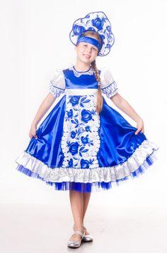 3b56f414e3a Детские карнавальные костюмы ручной работы. платье Гжель.