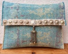 Grain sack  tote bag with tribal details by KussenvanPaula on Etsy