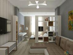 спальня-вітальня - All For Decorations Condo Interior Design, Apartment Room, Small Space Interior Design, Small Apartment Interior, Studio Interior, Condo Interior, Studio Apartment Layout, Apartment Layout, Small Apartment Design