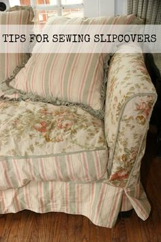 tips for sewing slipcovers- sew country chick