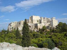 Acropolis from Areopagus - Acropole d'Athènes — Wikipédia