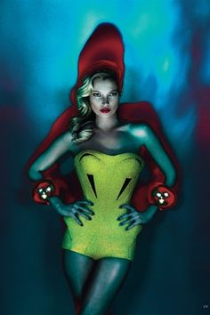 Kate Moss photographed by Mert Alas & Marcus Piggott for the June issue of Vogue UK