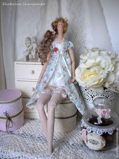 Куклы Тильды ручной работы. Ярмарка Мастеров - ручная работа. Купить Нежная принцесса Изабелла. Handmade. Мятный, интерьерное украшение