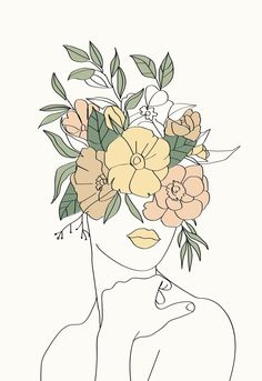 This poster combines minimalist and bohemian styles. Illustration Inspiration, Art And Illustration, Illustrations, Minimalist Drawing, Minimalist Art, Abstract Face Art, Aesthetic Art, Line Drawing, Art Inspo