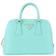 Prada BL0838 Leather Handbag -Tiffany Blue - This Prada ...