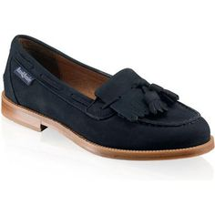 Russell and Bromley Chester Loafers in Navy Suede as seen on Kate Middleton