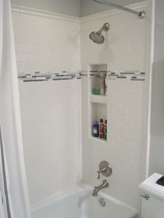 Black and white 2. Tiles, Crossville Ceramic Co, floor grout Lowes, white subway tiles Daltile form H D, bathtub Kohler from H D, toilet and sink Kohler Memoirs HD