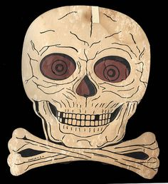 Vintage Halloween Decoration- Die-Cut Skull & Crossbones was my job to decorate the picture window & doors. Tube Vintage, Vintage Flash, Skull Decor, Skull Art, 1960s Halloween, Halloween Stuff, Halloween Ideas, Happy Halloween, Halloween Party