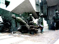 Warsaw - Monument to the resistance fighters who fought in the Warsaw Uprising.