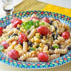 Bursting with fresh flavours, this Southwestern Chipotle Lime Pasta Salad makes a delicious side dish or add grilled shrimp or chicken for a complete meal.