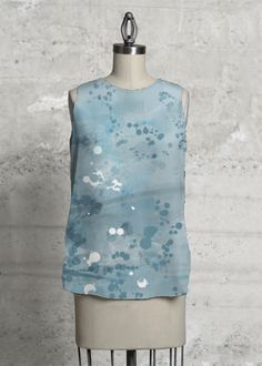 Blue Abstract  #shopvida #womans fashion #designer tops # designer scarves