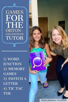 Games for the Orton-Gillingham Tutor that are fun and engaging and won't cost you anything!  #ortongillingham #pridereadingprogram #games via @pridereading