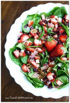 Summer Spinach & Strawberry Salad